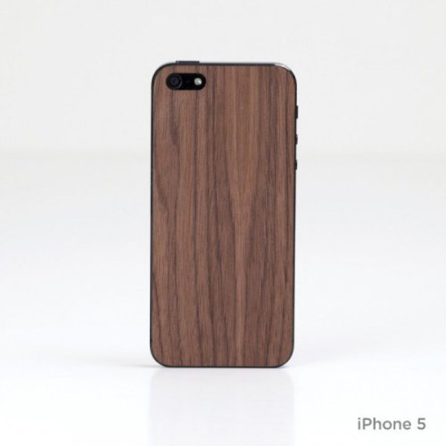 Lazerwood 23000 Holz Cover für Apple iPhone 5/5S inkl. Displayschutzfolie Plain Walnut