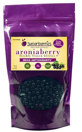 Organic Fresh-Frozen Aroniaberries (Chokeberry), 32 Oz.