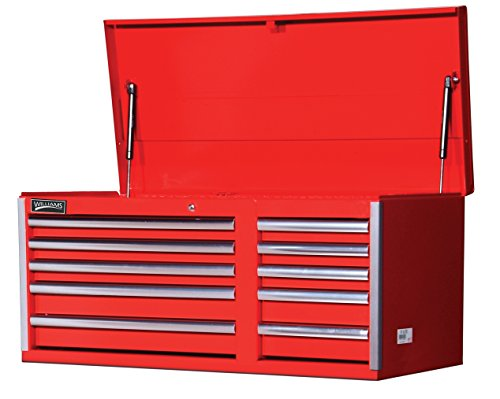 Williams 50741 10 Drawer Super Value Top Chest, 42-Inch X 18-Inch, Red (Williams Tool Chest)