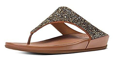 Fitflop Banda Roxy Womens Läderrem Sandaler Brons