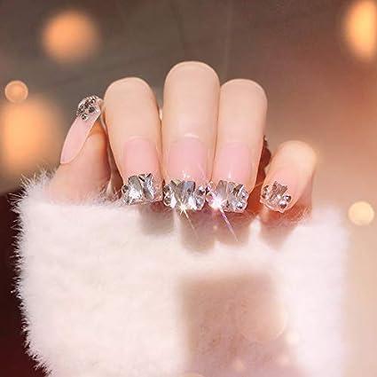 False Nails uñas postizas de cobertura completa uñas cortas ...