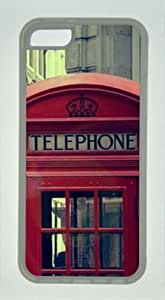 iPhone 6 plus 5.5 Case, Red Telephone Call Box Case for iPhone 6 plus 5.5 Soft TPU Material Transparent WANGJING JINDA