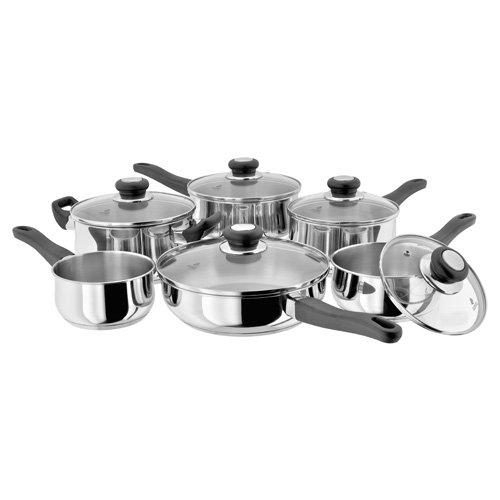 Judge Vista 6 Piece Set - 16/18/20cm SP, 24cm Saute Pan & 20cm Cass Horwood Homewares JJH1 Casserole Cookware