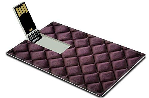Luxlady 32GB USB Flash Drive 2.0 Memory Stick Credit Card Size close up of silk burgundy sofa IMAGE 33925218