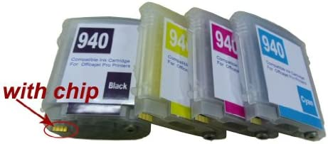 4 NEW CHIP for HP 940 940XL ink cartridge OfficeJet Pro 8000 8500