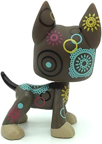 LPS Toy Rare Brown Chocolate Great Dane Dog Puppy Green Eyes N//N Littlest Pet Shop
