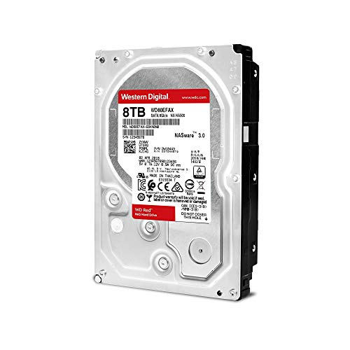 WD Red 8TB NAS Internal Hard Drive – 5400 RPM Class, SATA 6 Gb/s, 256 MB Cache, 3.5″ – WD80EFAX