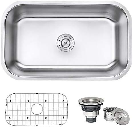 Ruvati 30-inch Undermount 16 Gauge Stainless Steel Kitchen Sink Single Bowl – RVM4250