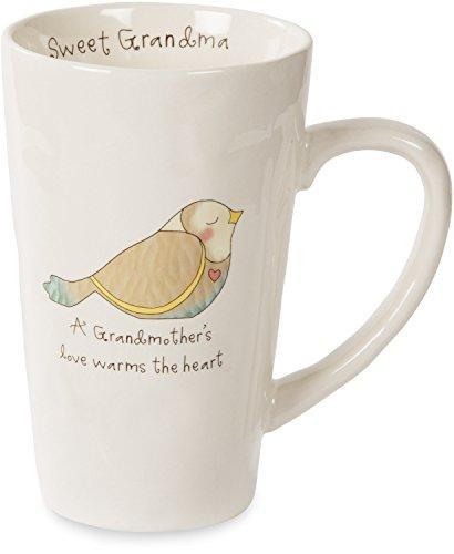 Love Bird Ornament (Pavilion Gift Company Heavenly Woods Bird Sweet Grandma Ceramic Mug, 18 oz, Off-White)