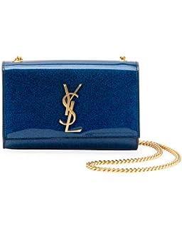 Saint Laurent Kate Monogram YSL Small Glitter Patent Crossbody Bag made in  Italy 85dd7600e3
