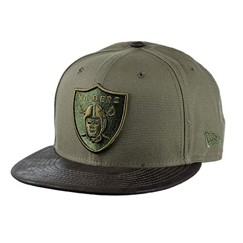 - New Era Oakland Raiders Sueded Up 9Fifty Snapback Cap Hat Green 11829259 (Size OS)