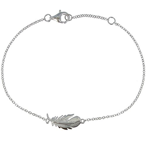 Les Poulettes Jewels - Sterling Silver Bracelet with Bird Feather by Les Poulettes Jewels (Image #7)