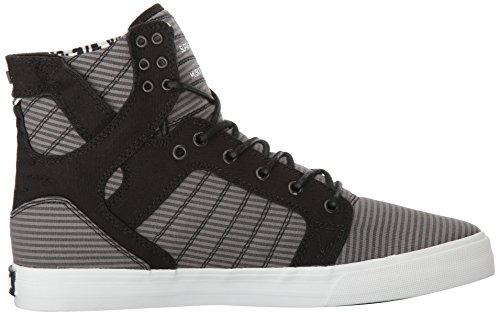 Supra Skytop S18091 - Zapatillas de ante para hombre blanco, negro, gris (Black / Grey - White)