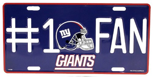 NFL New York Giants License Plate by Rico Industries