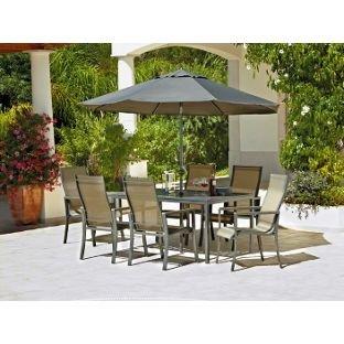 Beau Amalfi 6 Seater Patio Furniture Dining Set.