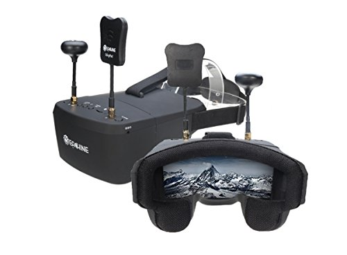 Eachine EV800D 5.8G Diversity RaceBand 40CH FPV VR Goggles 5 inch 800 x 480 screen resolution Video Headset Build-in HD DVR & 7.4v 1200mAh Battery