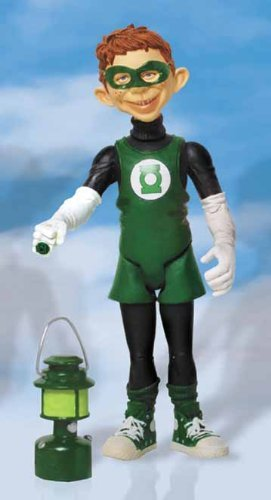 (Mad Alfred E. Neuman Just Us League of Stupid Heroes Green Lantern Action Figure by DC Comics)