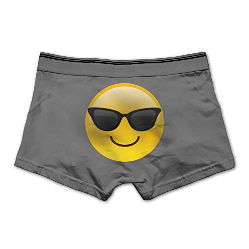 Men's Sunglasses Emoji Underwear Fashion Boxer Briefs Cotton Stretch Low Rise Trunks L - Snapchat Emoji Sunglasses With