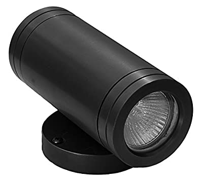 Peak to Peak Up/Down Wall-Washer Light Textured Black, 12V, 20W, aluminum