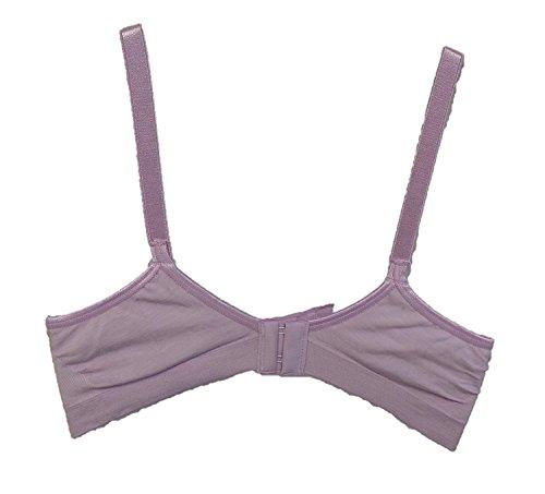 Hanes ComfortFlex Fit Santoni Bra With Corsetry Detail (Large, Lavender)