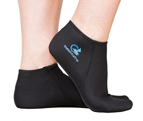 InstaMarine (Small 6-7) Premium Neoprene Socks and Water Fin Sock Perfect for Water Sports, Snorkeling, Diving, Swimming