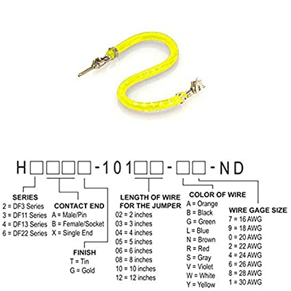 Pack of 100 JUMPER-H1502TR//A2015Y//H1500TR10 H2ABT-10110-Y4
