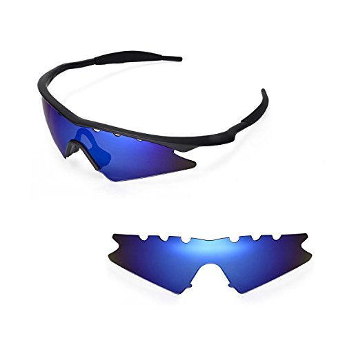 Walleva Vented Replacement Lenses for Oakley M Frame Sweep Sunglasses - Multiple Options Available (Ice Blue - Polarized)