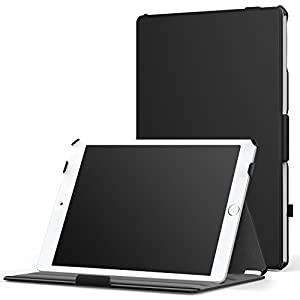 "MoKo iPad Air 2 Case - Slim-Fit Multi-angle Folio Cover Case for Apple iPad Air 2 9.7"" 2014 Released Tablet, BLACK (with Auto Wake / Sleep, Not Fit iPad Air 2013 Released Tablet)"