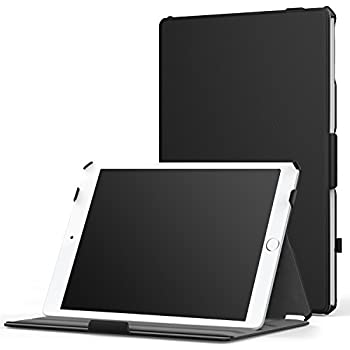 """MoKo iPad Air 2 Case - Slim-Fit Multi-angle Folio Cover Case for Apple iPad Air 2 9.7"""" 2014 Released Tablet, BLACK (with Auto Wake / Sleep, Not Fit iPad Air 2013 Released Tablet)"""