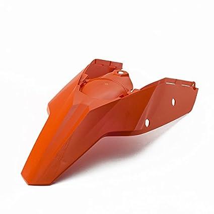 Garde boue arriè re, plastiques enduro motocross CEMOTO pour completo fianchetti KTM SX 2007/2010 SXF 2007/2010 orange KTM MES