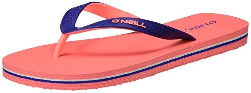 ONeill Damen Fw Basic Flip Flop Zehentrenner Pink (Fluoro Peach)