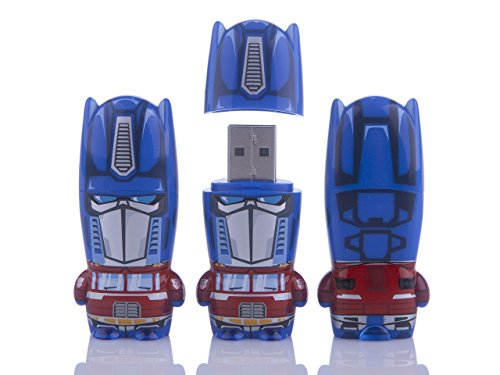 Mimoco 8GB Optimus Prime Transformers MIMOBOT Character USB Flash Drive with bonus preloaded Mimory content, Limited Edition ()