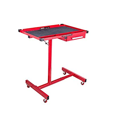 Orion Motor Tech Heavy Duty Steel Mobile Work Table | Weight Capacity 220lbs