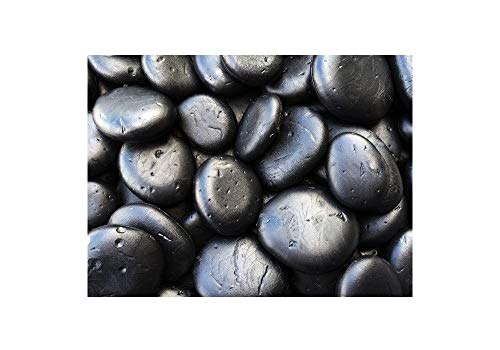 Black Faux/Artificial Landscaping River Rocks, 5 lb Bag (Approx 90 Stones) - for Vase Filler, Top Dressing Planters/Flower Pots, Design Projects, and Arts and Crafts