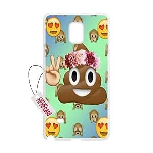 HFHFcase Popular Custom Case for Samsung Galaxy Note4, DIY poo emoji Samsung Galaxy Note4 Case