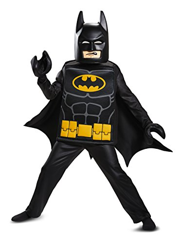Batman LEGO Movie Deluxe Costume, Black, Large (Top 10 Halloween Movie Characters)