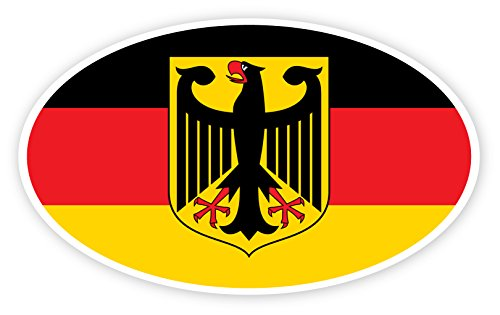 Deutschland Bundesadler Federal Republic of Germany Coat Of Arms Of Germany ((Reflective)) 3M Vinyl Decal Bumper Sticker 3x5 inches