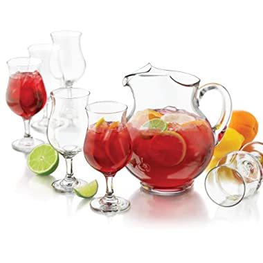 Libbey San Vicente Sangria Pitcher Set, 7-Piece, Clear