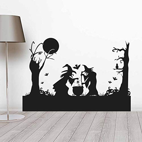 Happy Halloween Mural (Iusun Wall Sticker Happy Halloween Background Wallpaper Removable DIY Mural Paper Decoration for Room Home Nursery Bedroom Office Supplies Decal)