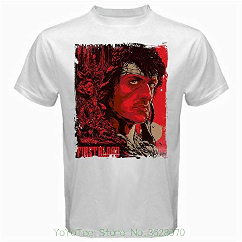 Rambo Shirt Cotton Collection 2 for Men Women T First Last Blood Tshirt Clothing Collectibles Gifts White