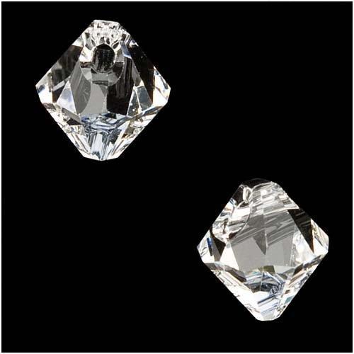 (SWAROVSKI ELEMENTS Crystal #6301 6mm Bicone Pendant Beads Crystal (10 Beads))