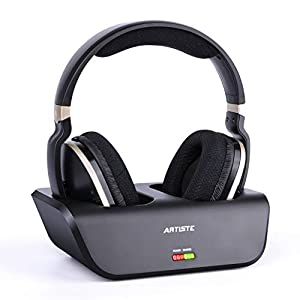 ARTISTE Wireless TV Headphones with Optical for Smart TV, Digital Stereo and 2.4GHz RF Transmitter and Charging Station…