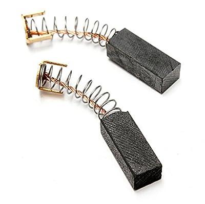 Generic 5 Pair Angle Grinder Carbon Motor Brushes Repair Replacement 14mm x 6mm x 5mm Black
