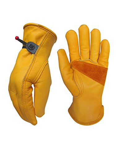 Heavy-Duty Cowhide Work Gloves Leather Work Gloves for Industrial/Gardening/Cutting/logging/Mechanics/Yard/Construction/Motorcycle/Farm, Men & Women Extra Large(1 Pair)