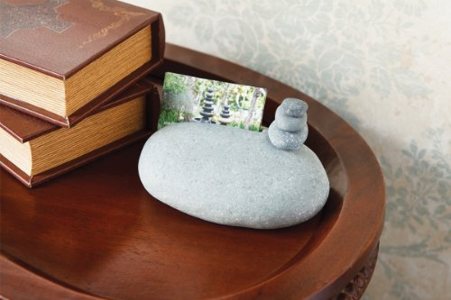 Rocks Cairn Business Card Holder Stand with Mini Cairn Unique Gift Ideas For Business