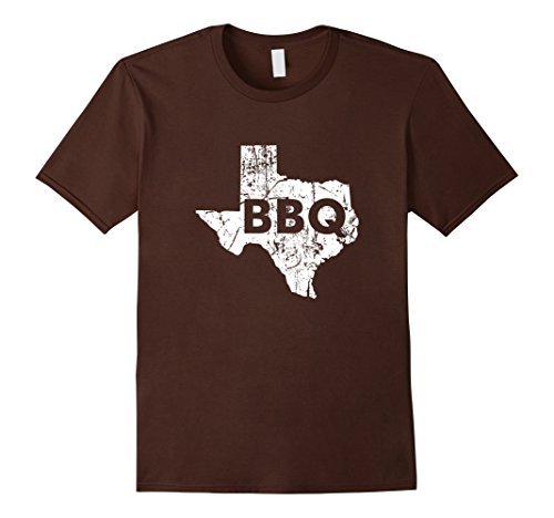 Men's Texas BBQ Barbecue Father's Day T-Shirt XL Brown