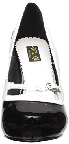 tacco Nero nero bianco donna Scarpe Pinup col Couture qTxtnAZT