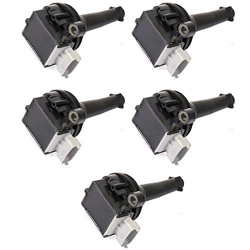 (ROADFAR Pack of 5 Ignition Coils Fit for Volvo C30/ C70/ S40/ S60/ V50/ V70/ XC70 2004-2016 Equivalent with OE: UF517 C1721)