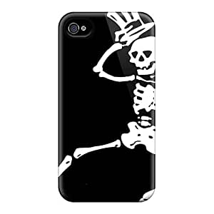 Best Hard Cell-phone Case For Iphone 4/4s With Allow Personal Design Lifelike Grateful Dead Band Pattern TammyCullen