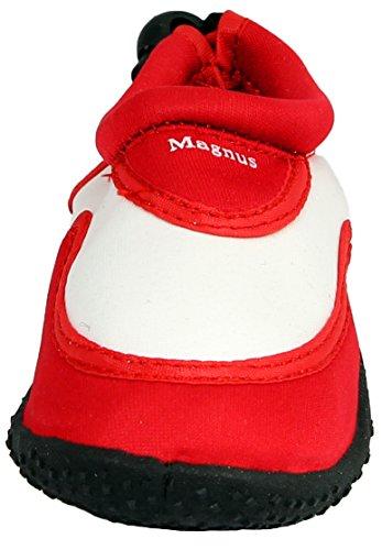 Sleedy® deslizadores de los niños Calzado de neopreno de surf zapatos unisex en varios tamaños rojo y blanco